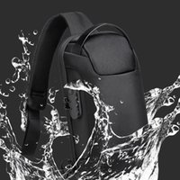 Backpack Men's Waterproof USB Oxford Crossbody Bag Anti-theft Shoulder Sling Multifunction Short Travel Messenger Chest Pack For Male