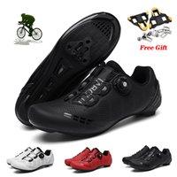 Ciclismo Plano Sapatos Sapatilhas Homens Velocidade Rota de Velocidade Bicicleta Sapatos Mulheres Racing Biking Sapatos Esporte SPD Coloque Ciclismo Bike Sneakers