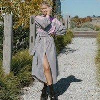 Casual Dresses Vogue Woman Loose Stripe Shirt Long Dress Tide Spring Sweet Female Pink Patchwork Laides Elegant Sashes
