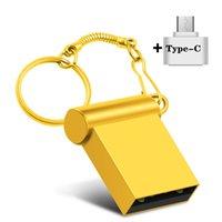 Kalem Sürücü Tipi-C 2.0 Taşınabilir Anahtarlık USB Flash Sürücüler Süper Mini Metal Flaş Pendrive 4G 8 GB 16G 32GB Pendrives 64 GB U Disk