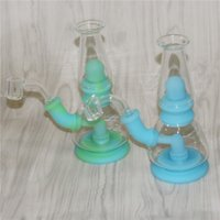 Glow in the dark Smoking hookahs Glass Water Pipes bong unique tobacco kits silicone bongs dab rigs DHL