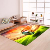 Carpets Football Pattern 3D Printed Children For Kids Living Room Bedroom Decor Rug And Carpet Baby Game Non-slip Floor Mats