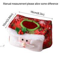 メリークリスマス不織布サンタクロース雪だるまティッシュボックスカバーバッグクリスマス装飾ホームテーブルノエル新年装飾RRA9229