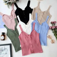 Women's Tanks & Camis Sexy Tank Top Women Female Slimming Knitted Cami Cropped Tops Elasticity Burgundy Blue Pink Feminino Bustier Vest