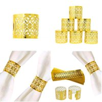 Napkin Rings 50pcs Paper Ring Laser Cut Holder Table Art Decoration For Kitchen Dining Christmas Party El Banque