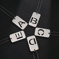 Anhänger Halsketten Coole englischer Brief Hohl Typenschild Männer und Frauen Einfache Paar Einzelne Edelstahl Schmuck Hals Kette