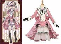 Black Butler Anime Cos Roupas Ciel Phantomhive Halloween Cosplay Traje Vestido