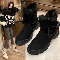 Women's Mid-Calf Winter Boots Platform Waterproof Shoes For Woman Female Snow Ladies Women Big Size Botas Mujer J89U#