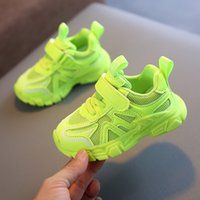 Basketball shoes 2021 Green Baby Sneakers For girls Casual Shoes Kids Guys Breathing Mesh Design 1 12 Years Children Sports 21 36 0917