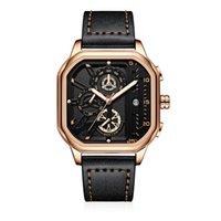 Moda Personalidade Homens Relógios de Pulso de Relógios High-End Movimento Multi-Função Quartzo Relógios Homens Relógio Luminosa À Prova D 'Água Explosão Modelos de Explosão Jóias Presente