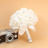 Bridal Wedding букет пены искусственный ручной работы цветок подарок искусственные цветы ручной букет роза невеста свадьба 2129 v2
