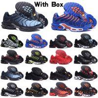Max Plus TN Erkek TN Artı Kadın Koşu Ayakkabıları Üçlü Siyah Beyaz Gökkuşağı Hiper Mavi Supernova Brushstroke Camo Erkekler Eğitmenler Açık Spor Sneakers EMON LIME BUMBULEBEE TRUE