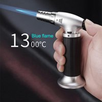 Tools & Accessories Portable Metal Flame Gun BBQ Heating Ignition Grill Kitchen Blow Torch Refillable Cooking Butane Gas Lighter Burner
