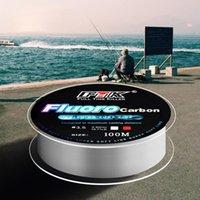 Flechtlinie 100m Angellinie starke Fluorkohlenstoff ultra-hohe Festigkeit Nylon-Angellinien Draht langlebig *