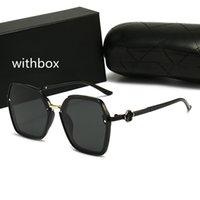Mulheres de luxo moda ao ar livre óculos de sol uv polarização adumbral vintage designer de metal sol óculos de alta qualidade senhoras gafas de sol com caixa