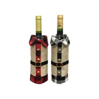 Anjule Creative Cartoon Christmas Gift Wine Bottle Cover Bags Decorations For Party Dinner Table Decoration