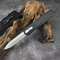 Top Quality Automatic Tactical Knife 3Cr13Mov Double Action Blade Stainless Steel Handle EDC Pocket Knives With Nylon Sheath
