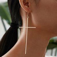 Yutong 1Pair Mode Böhmischen Punk-Ohrringe Schmuck Kreuzform Gold Silber Farbe Bestes Geschenk für Frauen Mädchen E048