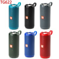 High Quality TG622 New Metal Portable Wireless Speakers Bluetooth-compatiple Speaker Bass Column Waterproof Outdoor USB TF Subwoofer