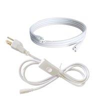 Schalter Stromkabeldraht für T5 / T8-Kabel-Stecker Netzkabel 2Pin-LED-Rohr, Verlängerungskabel für integrierte LED-Leuchtstoffröhre Glühbirne US-Stecker