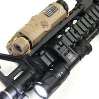 Táctica IFM CAM Scout Light Gun Light Hard Anodizing Aluminio QD Cree LED Linterna de salida dual Negro / Tierra Oscura