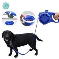 Dog Collars & Leashes Multifunction Leash With Water Bottle Bowl Poop Bags Hook Pet Puppy Walking Running Leads Roulette For Dogs Rope