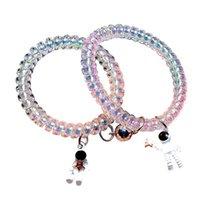 Charm Bracelets Fashion Small Rubber Band Couple Head Rope Astronaut Magnet Bracelet Hair Rings Headdress