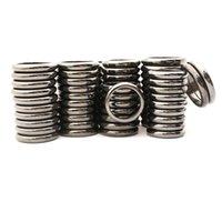 venda por atacado anel de hematita magnético de pedras preciosas 6 mm 4mm