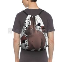 عسلي حقيبة الظهر الرباط حقيبة ركوب تسلق الصالة الرياضية حقيبة الأرنب الأرنب هير مسافات أسفل زهور الحيوانات الأليفة الحيوانات الأزهار الجمالية