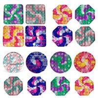 100pcs DHL Multicolor Pop Fidget Toy Sensory Push Bubble Board Game Anxiety Stress Reliever Kids Adults Autism Special Needs Sale