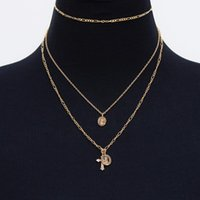Chains Of Fund States Multi-layer Relief The Virgin Mary Adorn Article XL072 Cross Pendant Necklace