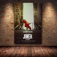 Joaquin Phoenix Affischtryck Joker Poster Movie 2019 DC Comic Art Canvas Oljemålning Vägg Bilder för vardagsrum Heminredning T200318