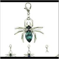 Jinglang Moda Sier Cor Animal Lobster Clasp Plastics Crystal Spider DIY Encantos Para Jóias Fazendo Acessórios Vyszc M6cnw