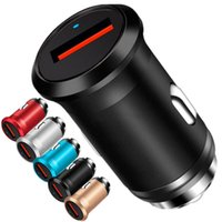 Быстрая быстрая зарядка QC3.0 5V 3A USB зарядное устройство сплава металлические автомобильные зарядные устройства адаптер для iPhone iPad Samsung планшетный ПК