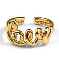 영원히 여자, 디자이너 반지, 골드 끝없는 사랑 단어 실버 반지