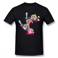 2021 레저 패션 100 % 코튼 티셔츠 소드 인쇄 재미있는 Kirby Star Allies Sparkler 게임 남성 스트리트웨어