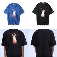 2021 여름 Kanye West High-Street Mens T 셔츠 대형 티 스케이트 보드 Tshirt 남성 여성 예수님의 레이디 고품질 탑스 짧은 소매