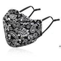 US Masque de concepteur de stocks Masque à imprimé floral 18 styles anti-poussière Masques de visage anti-poussière Couvercle de visage lavable pour adultes de coton réutilisable
