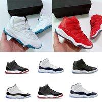 BEST 11S Große Jungen Mädchen Kinder Kinder Basketball Sneaker Schuhe Rosa Navy Blue Snakeskin 72-10 Trainer