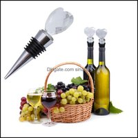 Tools Barware Kitchen, Dining Bar Home & Gardenheart Shaped Crystal Red Wine Bottle Stopper In Sier Gift Box Wedding Favor Return Gifts Deco