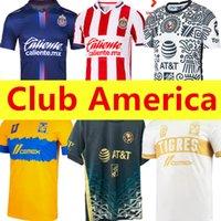 20 21 22 22 Club América Fora Futebol Jerseys 2021 2122 Home UNAM Terceiro Leon Uanl Tigres Chivas Guadalajara 115 anos Kit Camisas de Futebol Camisas de futebol