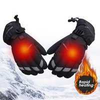 Winter ski gloves for both men and women, battery heated motorcycles, skiing bicycles