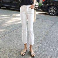 Limiguyue Tobillo-longitud blanca Jeans Mujeres Primavera Denim Jean Straight Skinny Jean Woman Black High Cintura Denim Pants Harajuku K551 Y0320