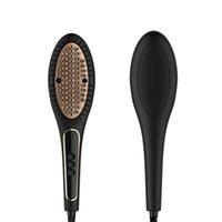 فرشاة الشعر المهنية فرشاة أنيون سريع ساخنة الكهربائية فرشاة فرشاة مستقيم مشط استقامة الشعر الحديد