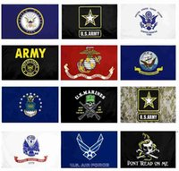 US Army Bandiera USMC 13 Stili Direct Factory Commercio all'ingrosso 3x5ft 90x150cm Air Force Skull Gadsden Camo Army Banner US Marines HHA5025