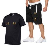Mode Designer Brief Druck Set Männer 2021 Sommer Neue Trainingsanzug Sweatshirt + Strand Shorts Sets Herren Casual T-shirts Sportbekleidung