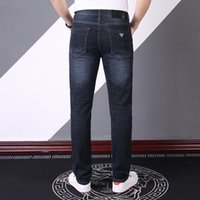 2021 Nuovo Designer Jeans Jeans Denim Pantaloni Denim Business Must-have Dentment e Summer Gendlemen Importato Denim di alta qualità Morbido Pantaloni di alta qualità di lusso