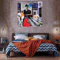 Tuval Üzerine Yağlıboya Ev Dekor El Sanatları / HD Baskı Duvar Sanatı Resim Özelleştirme kabul edilebilir 21043026
