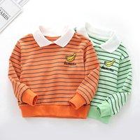 ropa para niños suéter a rayas primavera bebé manga larga camiseta niños y niñas polo moda