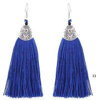 Le donne pendenti a goccia orecchini vintage signore eleganti geometriche argento color nappa orecchini per donne party ciondolo HWD7565